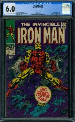 Iron Man 1 CGC 6.0 - 1st Issue!