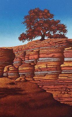 Robert Rigel  Canyon Light  Hand Signed Art Serigraph Western Rocks Make Offer