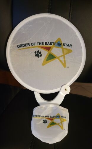 2 for $5 Order of Eastern Star fan with Fun Shooting Star Logo Round  7.75 wide