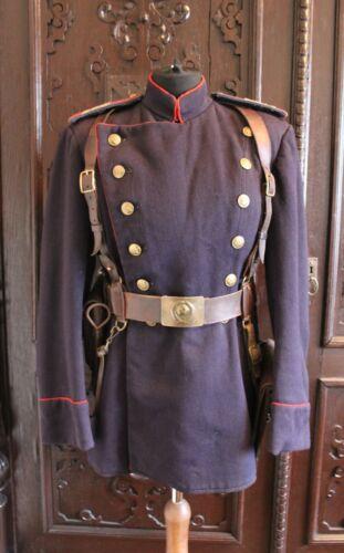ORIGINAL MILITIA NKVD MVD SOVIET POLICE STALIN ERA BELT LEATHER STRAPS VERY RARE