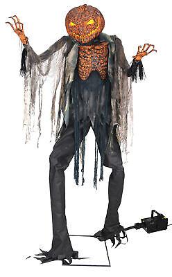 Scorched Scarecrow Animated Prop W/ Fog Lifesize 7' Animatronic Halloween