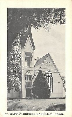 Danielson Connecticut Baptist Church 1940S B W Postcard