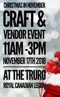 Christmas in November Craft & Vendor Event
