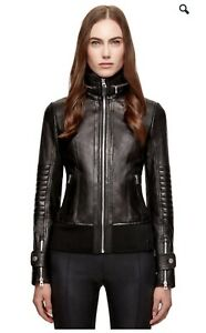 Rudsak Tisha Black leather jacket brand new XS
