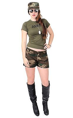 Sexy Army Chick Costume Military Adult Woman Hot Girl Camo Halloween Costumes - Hot Halloween Costumes Girls