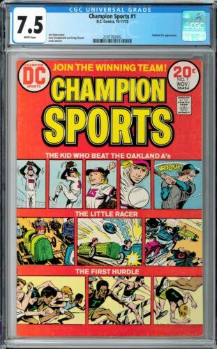 Champion Sports #1 CGC 7.5 (Oct-Nov 1973, DC) Joe Simon story, Oakland A
