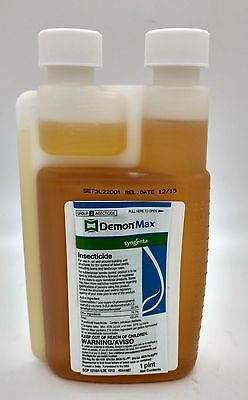 DEMON MAX Pint/16oz Insecticide Roachs Termites Ants Spiders Pest Control