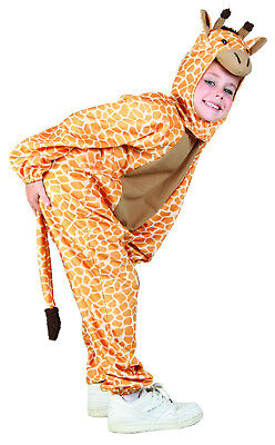 Kinder Giraffe Tier Kostüm Outfit Jungen Mädchen König der Löwen Woche (Kinder Löwen Outfit)