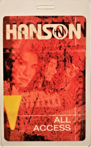 *** HANSON ***  LAMINATED BACKSTAGE PASS - 2000 - 2001 - ALL ACCESS - excellent