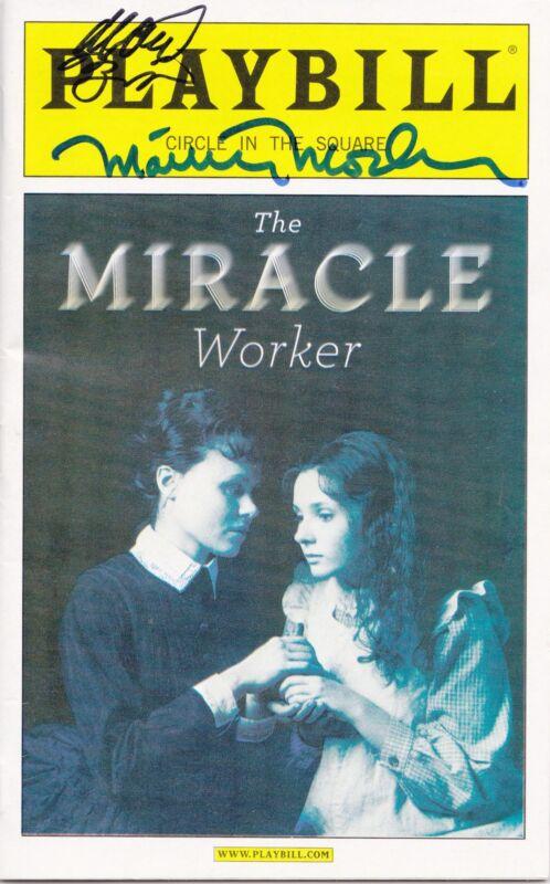 Abigail Breslin Matthew Modine Signed Playbill The Miracle Worker Broadway Coa