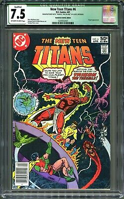 Mega Rare Error Comic, DC Teen Titans #6, Marvel Two-In-One #74 Inside CGC 7.5