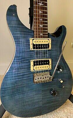 PRS SE Custom 24 Electric Guitar w/ extras- Whale Blue - Excellent Condition