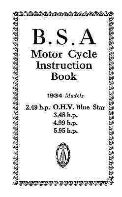 (0247) 1934 BSA 2.49 3.48 4.99 5.95hp instruction book