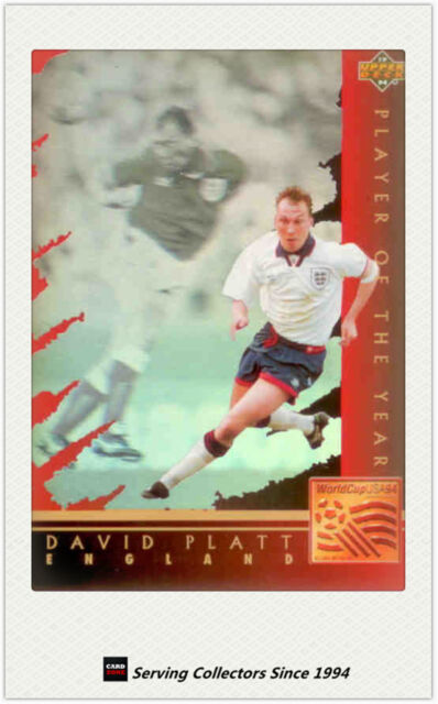 1994 UD World Cup Soccer U.S.A Trading Card Player Of The Year WC3:D.Platt