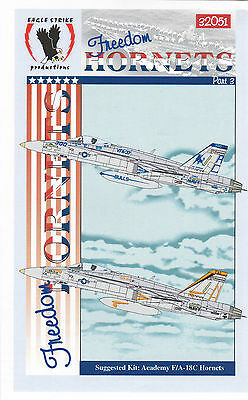 Eagle Strike 1/32 F-18 Freedom Hornets  Decals Pt III Trumpeter Revell Hasegawa