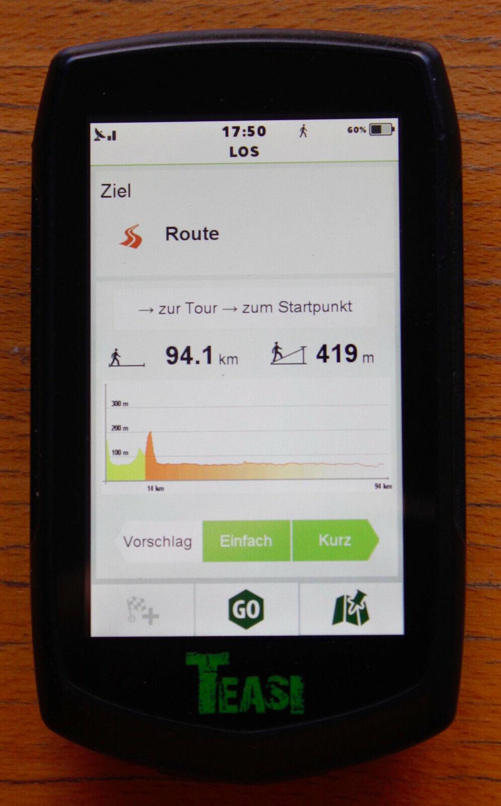 Teasi One 3 - eXtend Outdoor-GPS Rad- Wander- Segel, Langlauf-Navigationsgerät