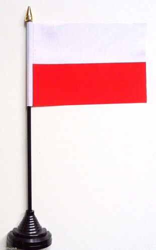 Poland Polyester Table Desk Flag