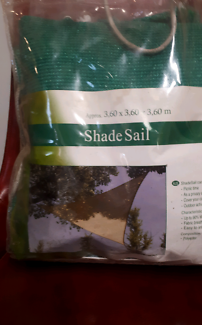 New Green Triangular shade sail