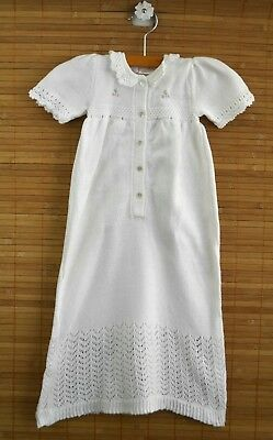 Baby Girls SOPHIE DESS Sz 3m White Sweater Knit Long Gown Christening Dressy