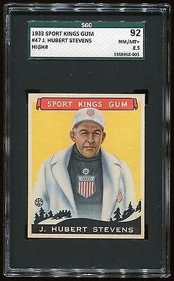 1933 Sport Kings #47 Hubert Stevens *Bob-Sled Racing* SGC 92 NM-MT+ #1368968-005
