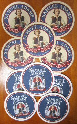 Lot of 10 Samuel Adams Boston Lager Beer Coasters 2 Sided Free Shipping