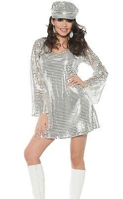 Shimmer Costume Mini Mod Dress 70s 70's Disco - 70's Mod Kostüme