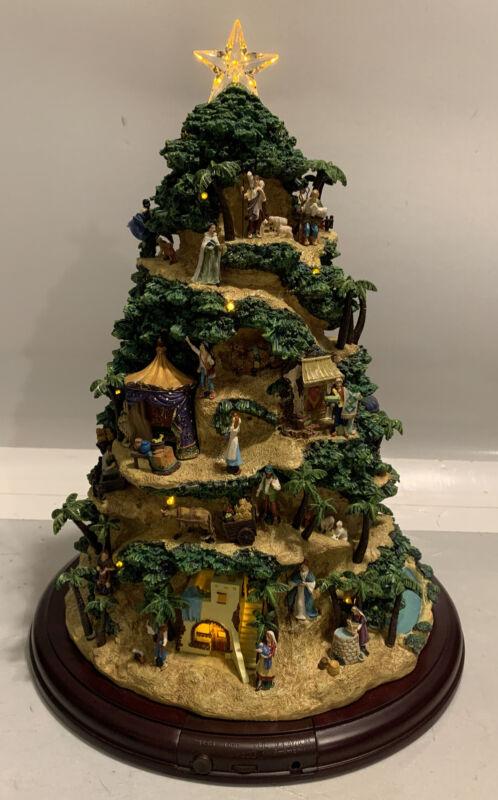 Thomas Kinkade Hawthorne Village CHRISTMAS TREE Glory to the Newborn King Music