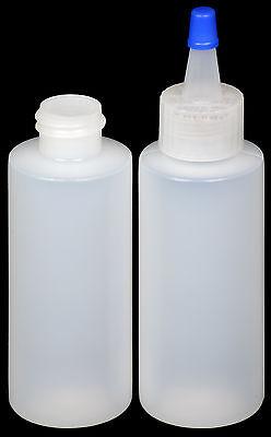 Plastic Spout Lid Dropperapplicator Bottle Wblue Overcap 2-oz. 30-pack New