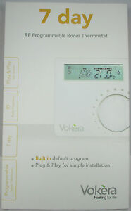 VOKERA WIRELESS (RF) PROGRAMMABLE ROOM THERMOSTAT WITH 7 DAY CLOCK, 20059643