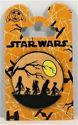 Disney Star Wars Happy Halloween Trick or Treat Darth Vader Chewbacca Yoda Pin  - Happy Halloween Trick Or Treating