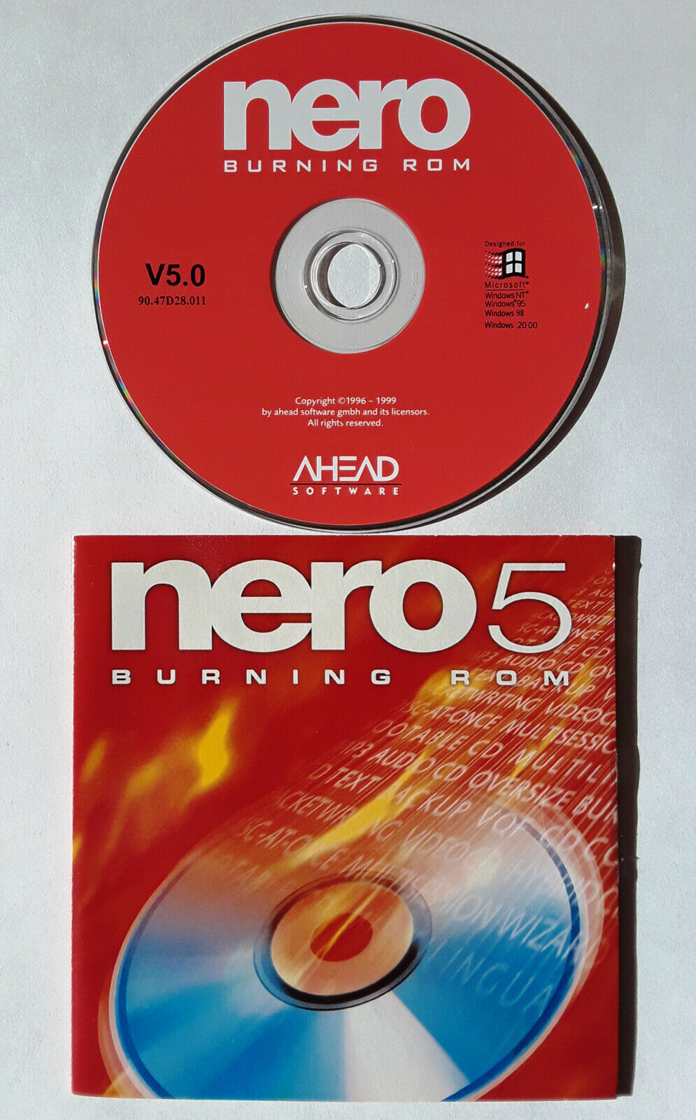 Ahead Nero 5 Burning Software for Windows 95, 98, NT 4.0 and 2000