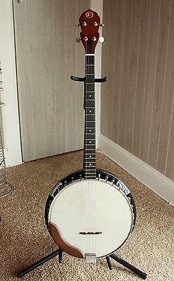 Kay 4 String Banjo Made in Korea w/Case Carved Eagle Reverse