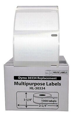 Dymo Lw 30334 Medium Multipurpose Labels - 1 Roll Of 1000 - Free Fast Ship