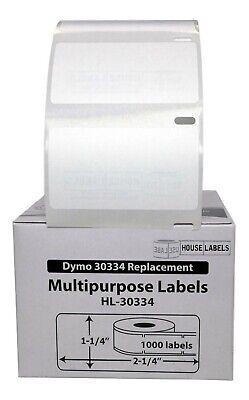 Dymo Lw 30334 Medium Multipurpose Labels 2-14 X 1-14 - 1 Roll Of 1000