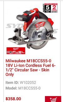 Milwaukee circ saw & rotary hammer drill