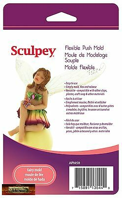 M00702 MOREZMORE Sculpey Polymer Clay Flexible Push Mold FAIRY DOLL A60