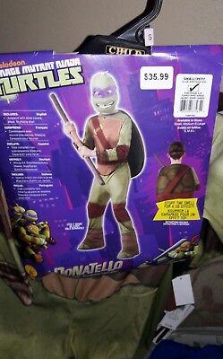 Teenage Mutant Ninja Turtle Halloween Costume Ages 3-4 Donatello Size S 4-6](Donatello Ninja Turtle Halloween Costume)