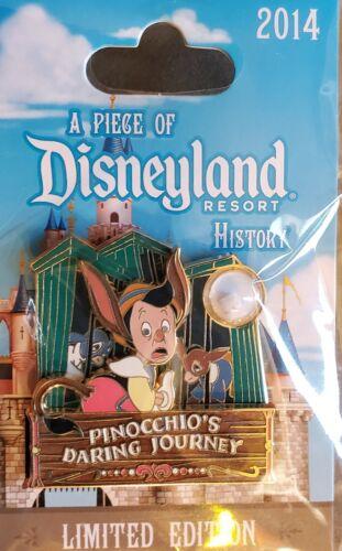 Disney DLR Piece of Disney History 2014 Pinocchio's Daring Journey LE 1500 Pin