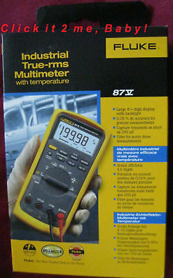 Brand New In Box Fluke 87v 87-v Industrial True-rms Multimeter W Temperature