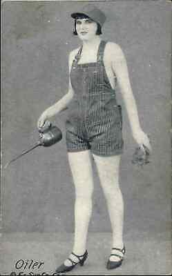 Working Girl Pinup Series Exhibit Card OILER c1920s