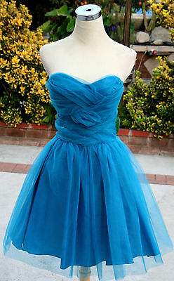 Teal Masquerade Dresses (NWT MASQUERADE $100 TEAL Juniors Prom Party Dress)