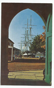 Mystic Seaport Charles W Morgan Fishtown Chapel Vintage Postcard