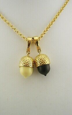 Francesca Visconti Double Acorn Enhancer/Pendant Necklace