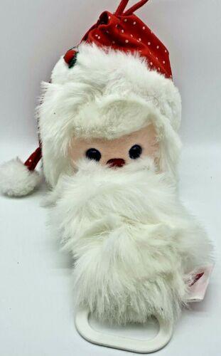 VTG DAKIN SANTA CLAUS CHRISTMAS MUSICAL BABY TOY CRIB PULL PLUSH