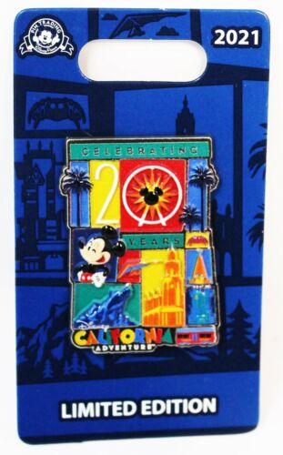 Disney Parks 2021 Celebrating 20 Years 20th California Adventure Anniversary Pin