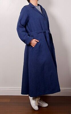 NWT Casey Casey FRANCE egg trading linen cotton trench coat duster jacket S $750