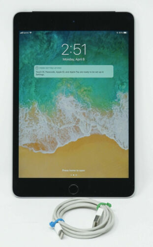 """Apple Ipad Mini 4 16gb 7.9"""" Wifi A1538 Space Gray Excellent Condition"""