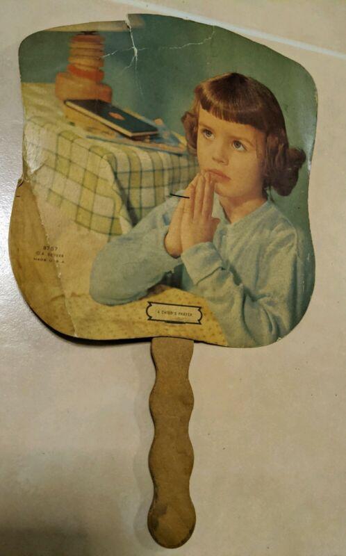 Vintage Advertising Funeral Home  Furniture Store Cardboard Fan Scranton PA.
