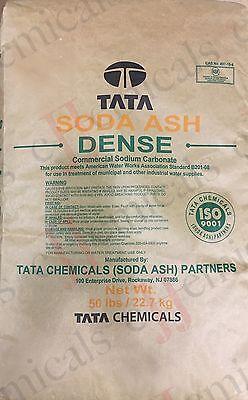 Soda Ash Dense 99.5 Minimum Purity 50lb Bag