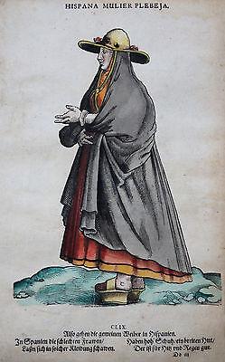 "SPANIEN HISPANA MULIER PLEBEJA AMMAN TRACHTENBUCH ""Habitus praecipuorum"" 1577"